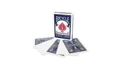 Bicycle Poker- blank/blue