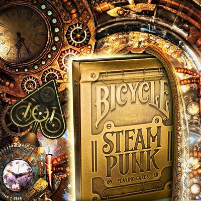 Bicycle Poker Steampunk gold